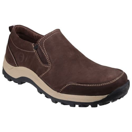 Cotswold Sheepscombe Slip On Mens Shoes Brown